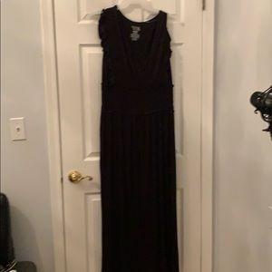 Black long sundress XL woman's